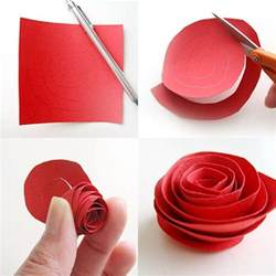 How To Make Easy Paper Flowers - diy paper flower tutorial step by step instructions