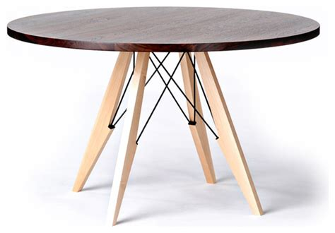 cool round wood dining table on round french country walnut maple and steel dining table modern dining