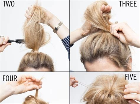 quick work hairstyles for thin hair messy classy chignon beauty zone