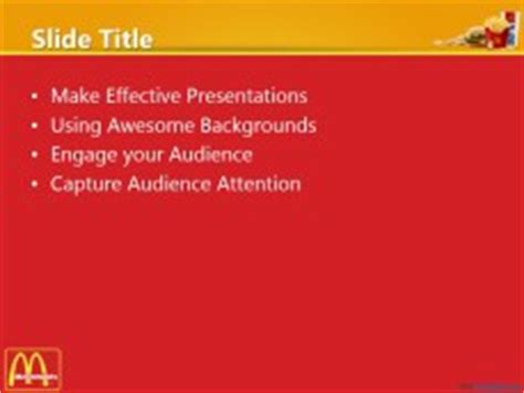 Free Mcdonald S With Logo Ppt Template Mcdonalds Powerpoint Template