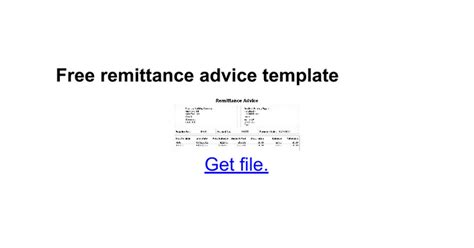 remittance slip template free remittance advice template docs