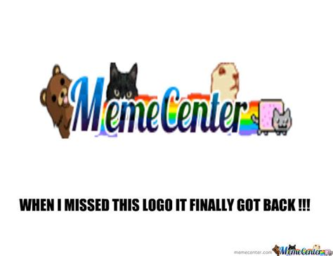 Meme Logo - welcome back old memecenter logo by aminos05 meme center