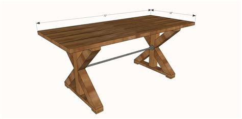 x base table farmhouse x base table buildsomething