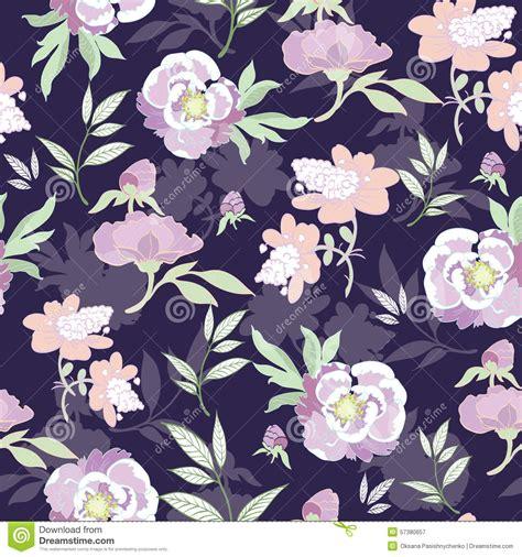 kimono repeat pattern vector pastel kimono flowers on black seamless stock