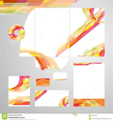 corporate identity template vector stock vector image