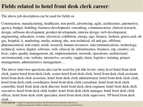 top 10 hotel front desk clerk questions and answers