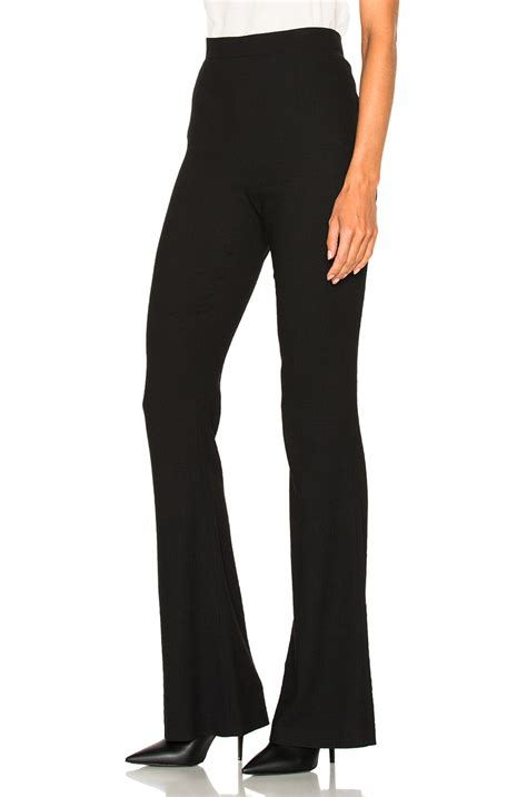 Flare Trouser Pant by Balmain Flare Trouser Pant In Black Modesens