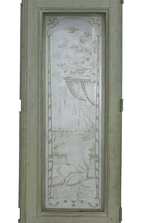 19th Century European Etched Glass Doors For Sale At 1stdibs Glass Doors For Sale