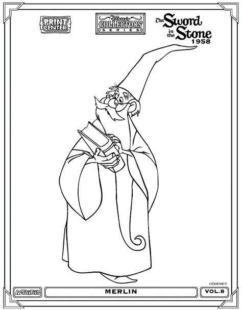 printable merlin vouchers the sword in the stone coloring pages coloring pages for