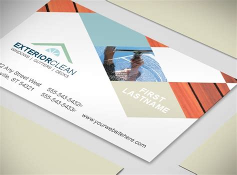 pressure washing business card templates window cleaning pressure washing companies business card