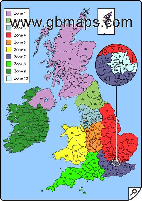 map uk area postcode areas scotland images