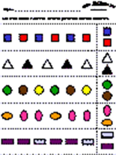 abc pattern using shapes ab pattern worksheet kindergarten abab pattern