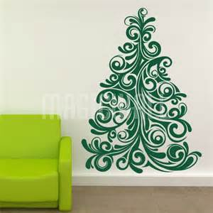 wall sticker christmas tree wall decal christmas tree wall sticker by spin collective