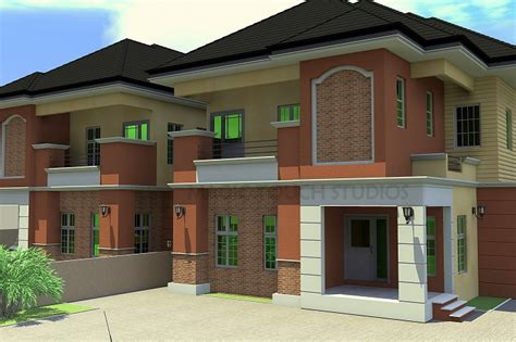 4 Bedroom Duplex Designs 4 Bedroom Semi Detached Duplex Residential Homes And Designs
