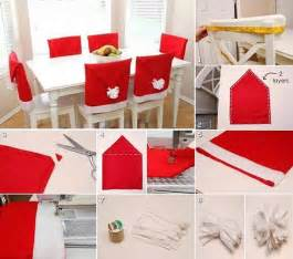 Santa Hat Chair Covers Wonderful Diy Adorable Santa Hat Chair Covers