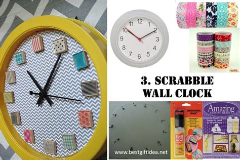 scrabble clock best gift idea diy scrabble gifts think out of the