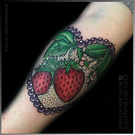 strawberry tattoos 60 best images about strawberry on