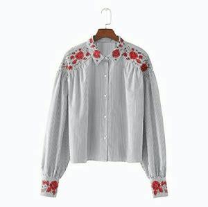 Baju Panjang Abu Abu Motif baju atasan wanita blouse lengan panjang bordir