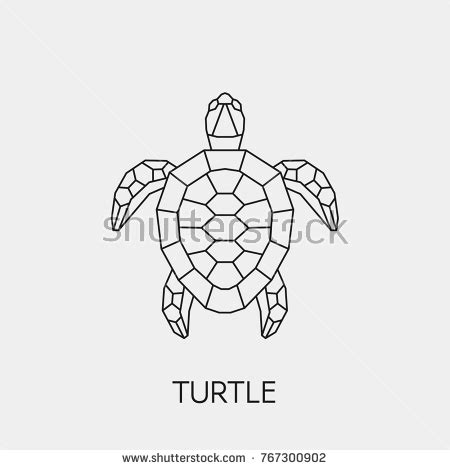 geometric turtle coloring page tortoise tattoo stock images royalty free images