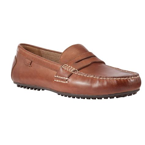polo ralph loafers polo ralph wes leather driving loafers in brown for