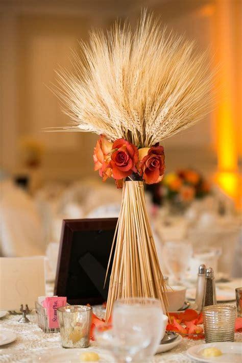 fall rustic country wheat wedding decor ideas deer