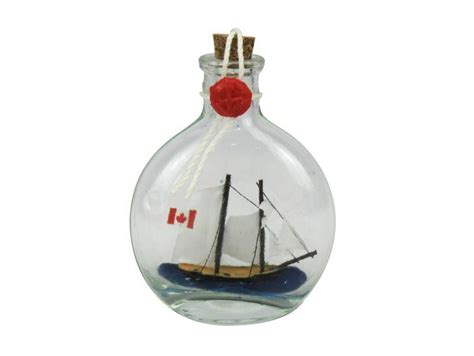 sailboat in a bottle wholesale bluenose sailboat in a glass bottle 4