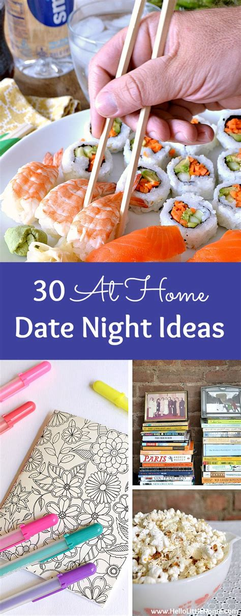 8 Date Ideas by 30 At Home Date Ideas Hello Home