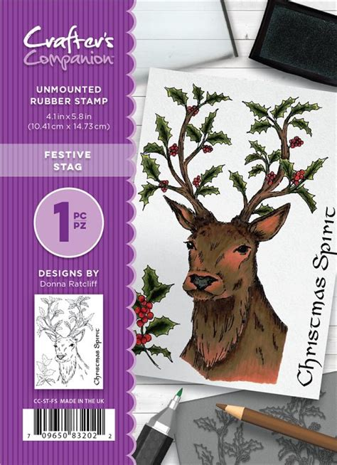 stag rubber st crafters companion a6 unmounted rubber st set festive