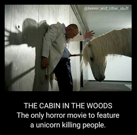 Cabin In The Woods Unicorn by An Ode To The Cabin In The Woods