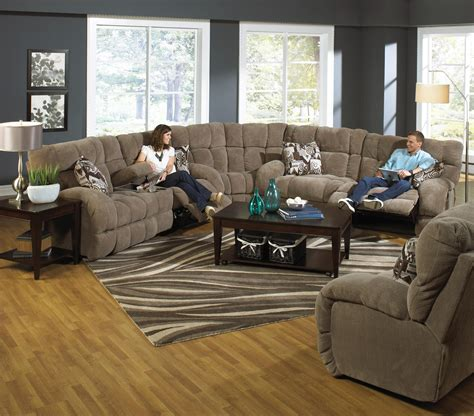 Catnapper Siesta Reclining Sectional Sofa With Cup Holders Catnapper Sectional Sofa
