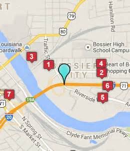 Louisiana Casinos Map by Map Of Casinos Shreveport La Submited Images