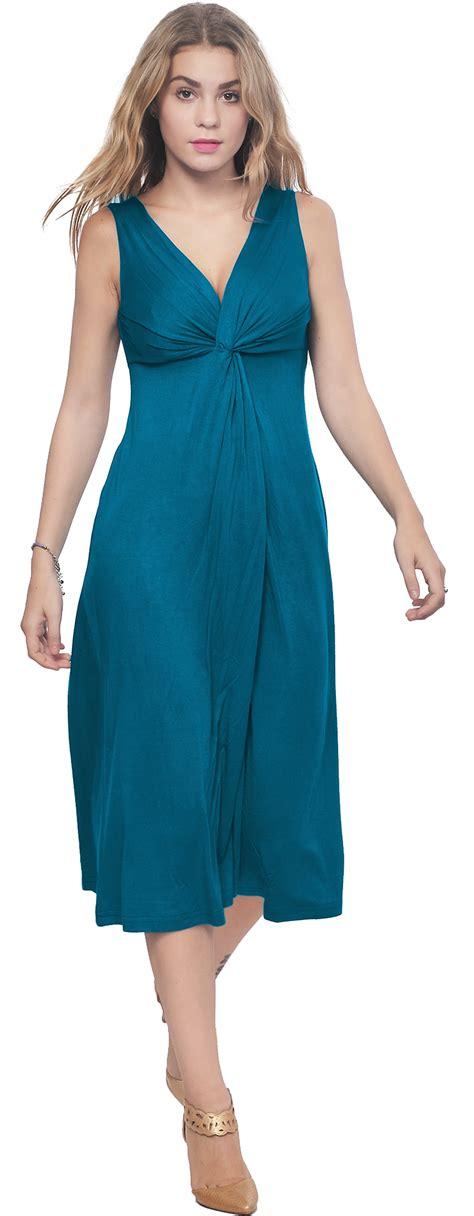 Sleeveless Mini Midi Dress womens sleeveless vneck draped midi dress evening