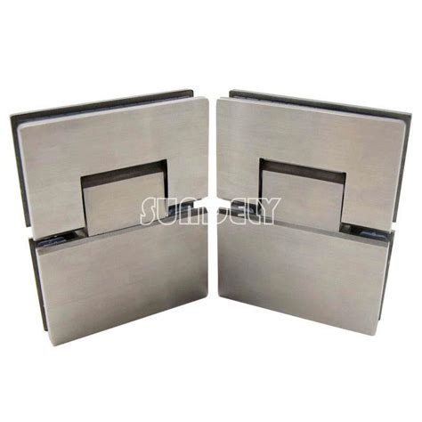 Frameless Glass Shower Door Hinges Stainless Steel 180 176 Frameless Glass To Glass Shower Door Hinge Bracket Pair Ebay
