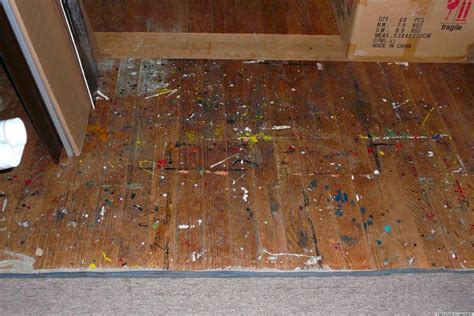 remove paint  floor  facial wipes huffington post
