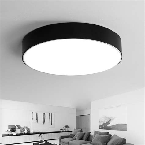 Black Ceiling Lights Modern Dimmable Modern Led Ceiling Light Black White Acrylic Led Ceiling L With Remote