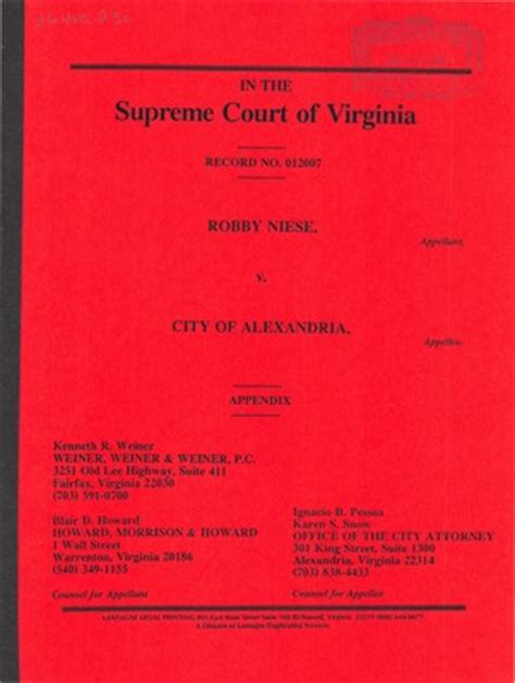 Alexandria Va Court Records Virginia Supreme Court Records Volume 264 Virginia Supreme Court Records