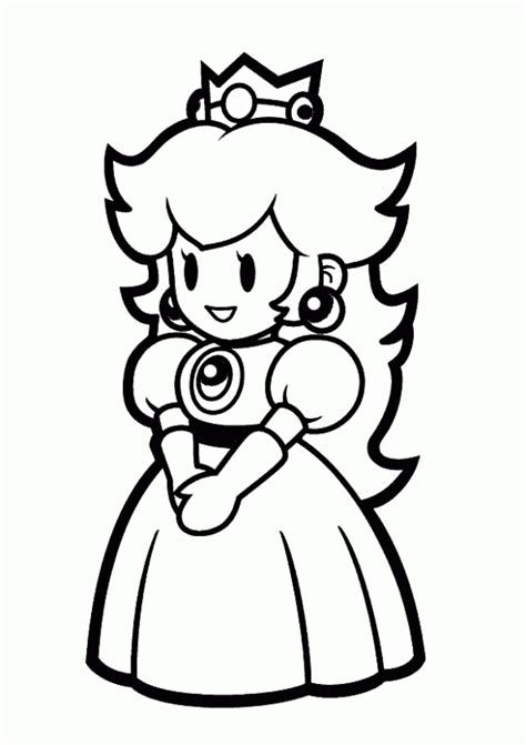 mario coloring pages princess free mario coloring pages
