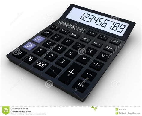 calculator x10 3 black calculator 3d royalty free stock image image 33419046