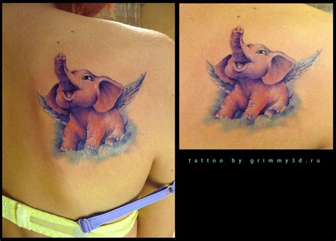 pink elephant tattoo pink elephant tattoos