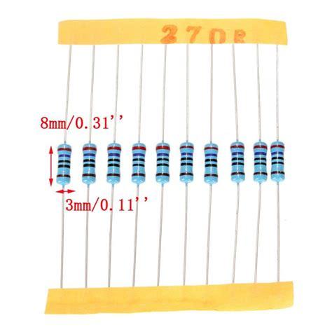metal resistor package 1100 pcs 0 1 ohm 10m ohm 1 2w metal resistor 110 value box kit alex nld