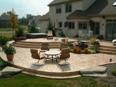 Raised Sted Concrete Patio by Multi Tier Raised Sted Concrete Patio New Jersey