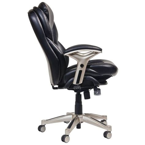 serta office chairs back in motion office chair in black bonded leather 44186