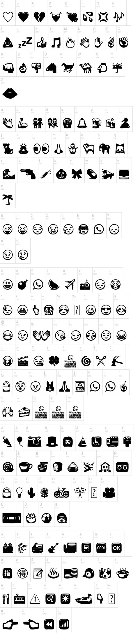 whatsapp themes and fonts whatsapp emoticons font dafont com