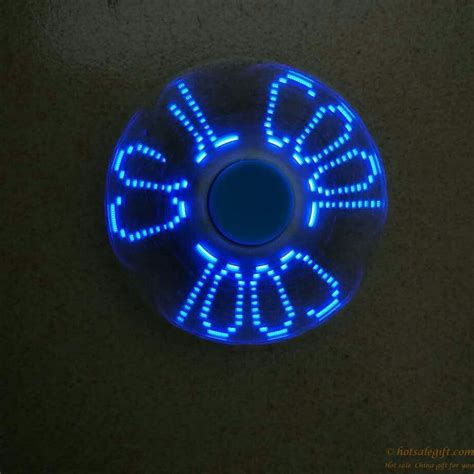 Sale Fidget Spinner Led Motif sale colorful blinking text pattern fidget spinner with led sale gift