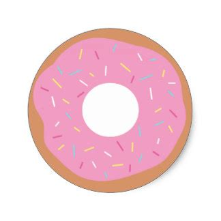 cute donut pictures frosted stickers zazzle