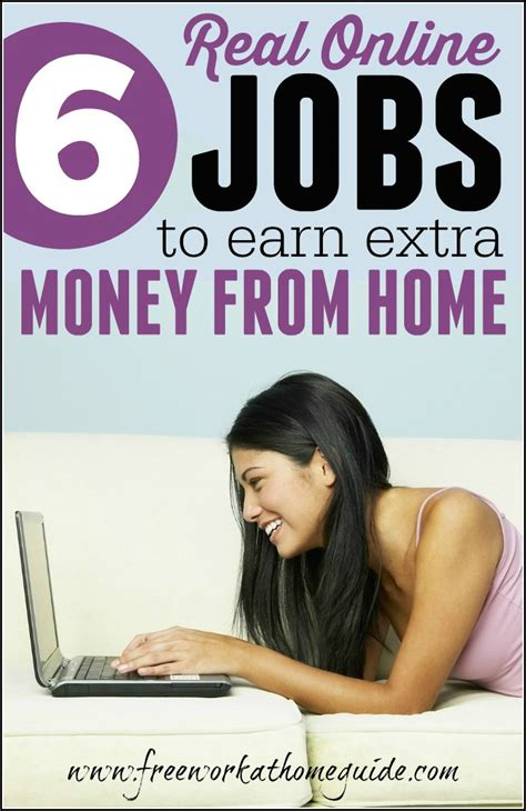 Make Extra Money Online Free - 6 real online jobs to earn extra money at home best work from home jobs online