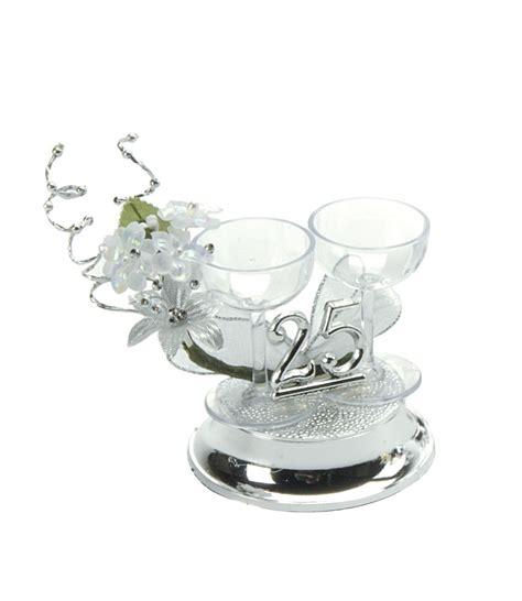 25th Wedding Anniversary Ideas Uk by 25th Wedding Anniversary Cake Decorations Silver Wedding