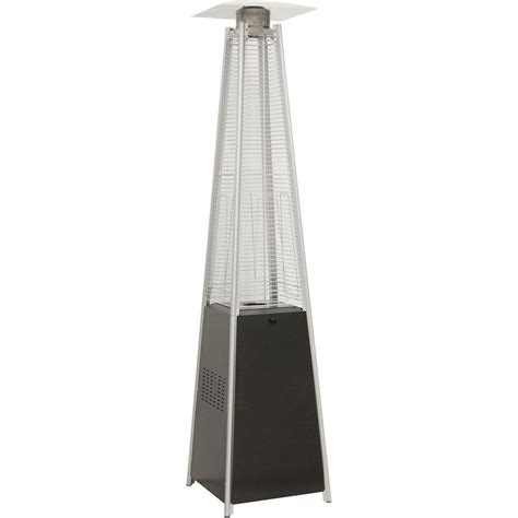 Pyramid Gas Patio Heater Hanover 7 Ft 42 000 Btu Black Pyramid Propane Gas Patio Heater Han101blk The Home Depot