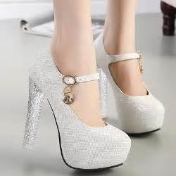 crystal heel bride wedding shoes sparkly glitter silver
