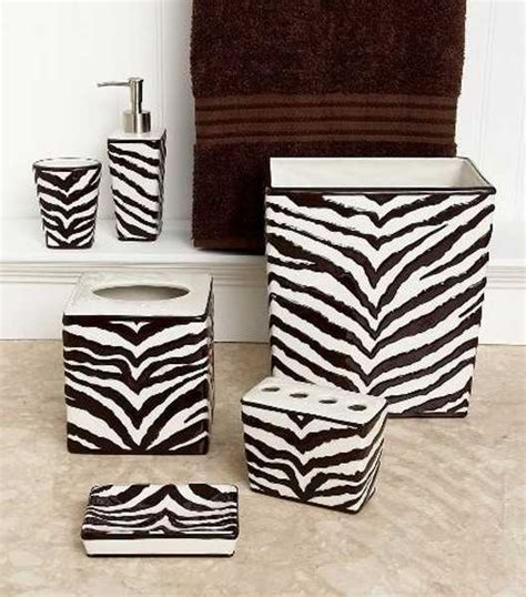 zebra print bathroom accessories zebra prints and decorative patterns for modern bathroom decorating